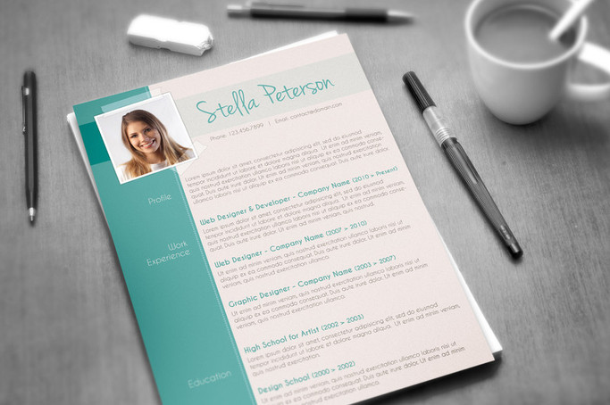 A Fancy CV Template - Tangy Peppermint - fancy resume templates