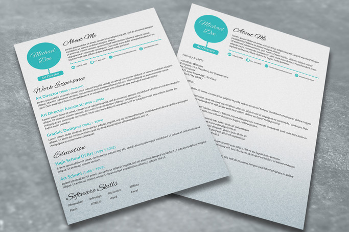 Resume and Cover Letter Set - A Dash of Spearmint
