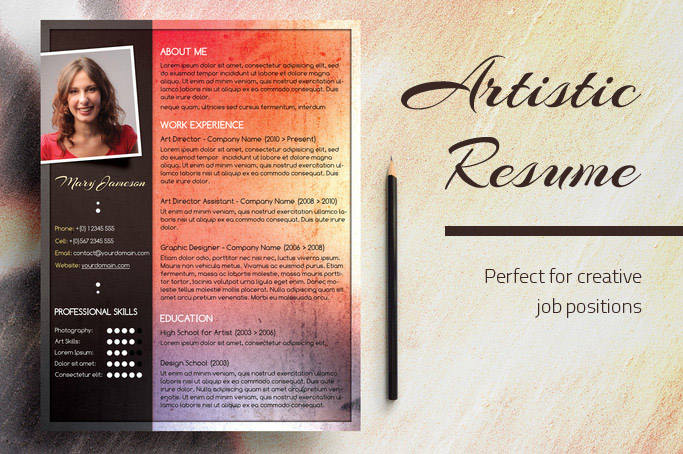 An Artistic Resume Design - Red Hot Chili Pepper