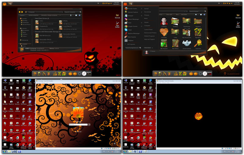 haloween skin pack windows  Transform Windows 7 To Halloween Skin Pack [Windows Theme]