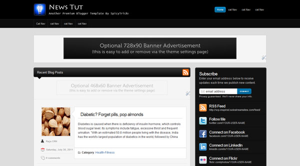 Premium Blogger Template ne Top 5 Best Free Premium Blogger Templates 2012