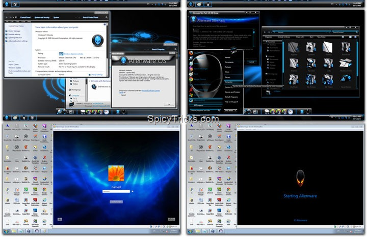 alienware skin pack Windows 7 theme dark Top 10 Windows 7 Themes, Visual Styles, Stylish Transformation Skin Packs for Win7