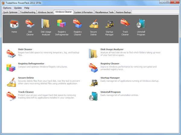 tweaknow Speed up Your Windows 7 by using Tweak Now Power Pack 2012