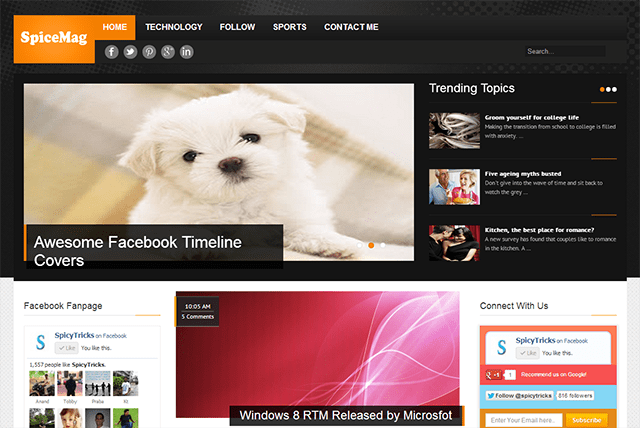 SpiceMag Blogger Template