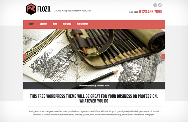 flozo free wordpress themes 2013 march 10 Best Free WordPress Themes for 2013 March
