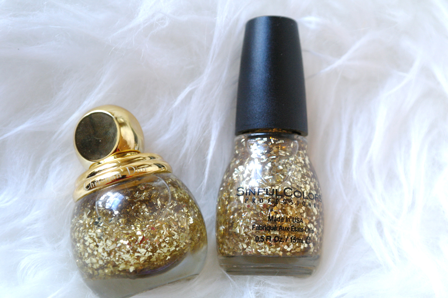 sinfulcolors twilight twinkles is the perfect dupe for dior diorific vernis in golden shock - Vernis Sinful Colors