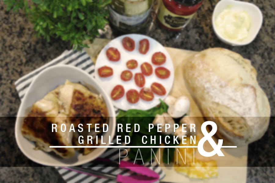 Roasted red pepper and grilled chicken panini ...