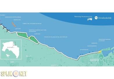 Stremming dijk tussen Eemshaven en Delfzijl