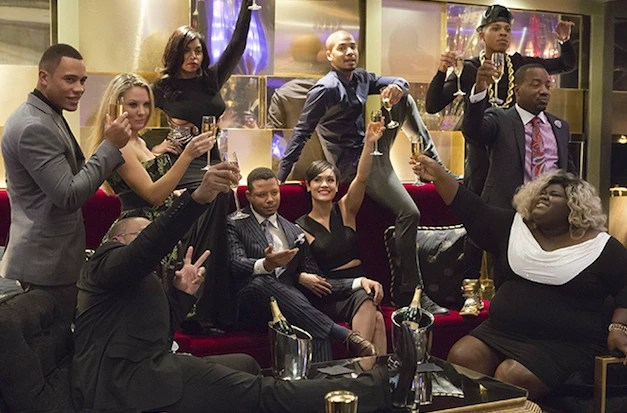 The whole cast toasts to Empire.