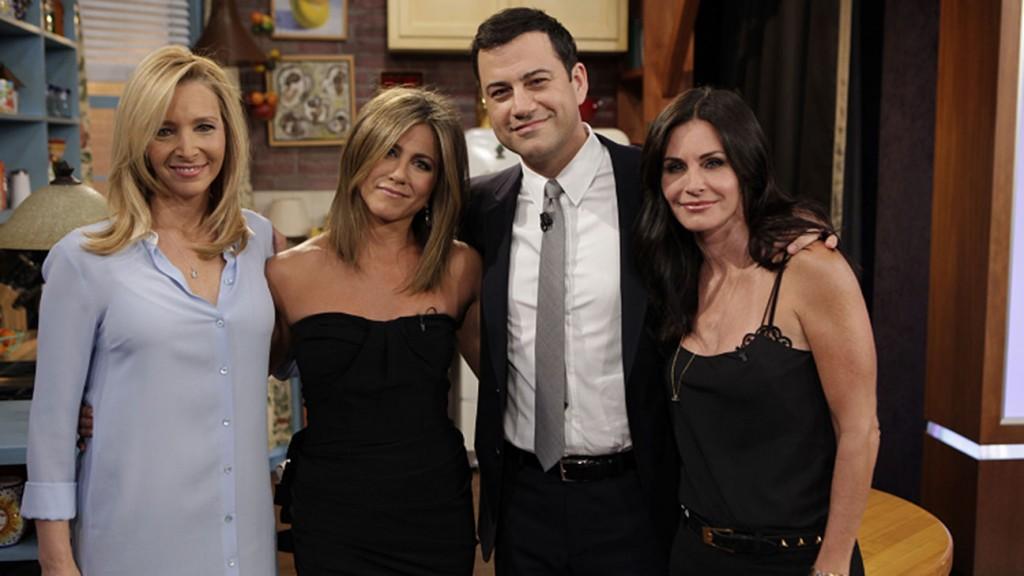 jimmy kimmel friends reunion 1024x576 Jimmy Kimmel promove encontro de elenco feminino de Friends
