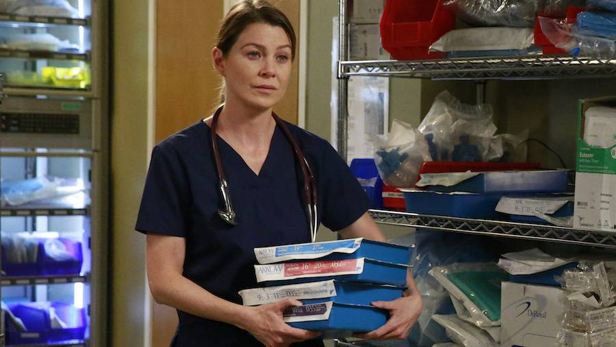 """GREY'S ANATOMY - """"Time Stops"""" - The doctors of Grey Sloane Memorial Hospital are forced to put their emotions aside when a catastrophic event occurs, on """"Grey's Anatomy,"""" THURSDAY, MAY 7 (8:00-9:00 p.m., ET) on the ABC Television Network. (ABC/Mitchell Haaseth) ELLEN POMPEO"""