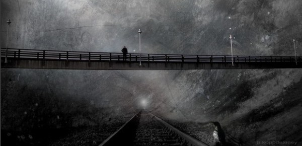 Bridge, railway, image by H Koppdelaney