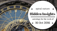 Hidden Insights: Astrology for the week of 16 October 2016