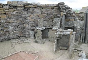 Picture of Interior of the large Broch of Gurness tower