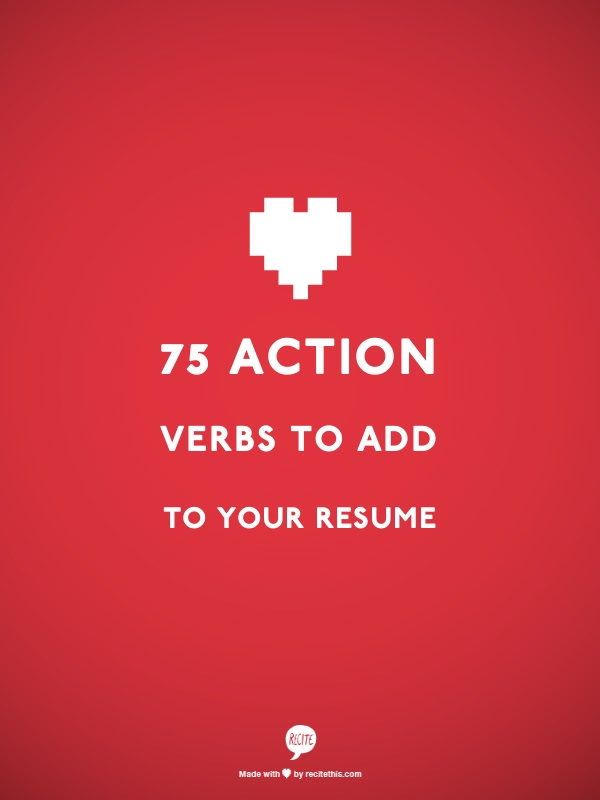 75 Action Verbs To Add To Your Resume \u2014 Splash Resumes