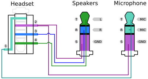 usb headset schematic