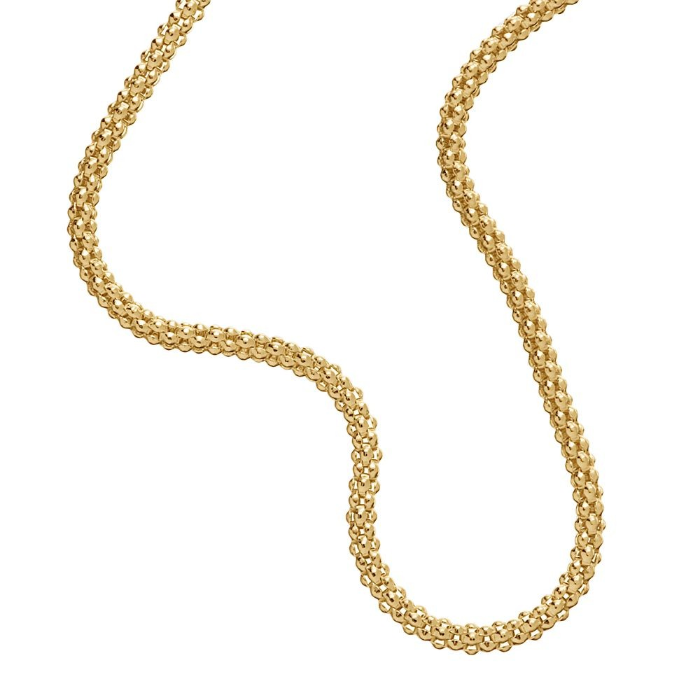 14k Gold Plated Sterling Silver 925 Italian Chain Necklace