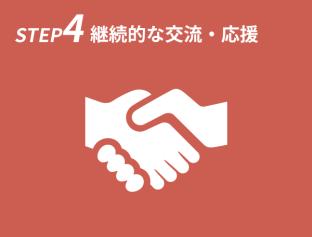 STEP4 継続的な交流・応援