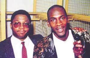 Larry Fitzgerald and Michael Jordan Photo courtesy of Larry-Fitzgerald.com
