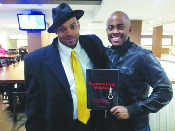 A. J. Briscoe (l) with Farrah Gray, keynote speaker at A Night of Brotherhood, Brotherhood Inc.'s Third Annual Spring Gala, on April 18 at the University of St. Thomas Photo Courtesy of A. J. Briscoe