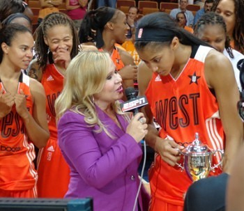 Parker received the All-Star MVP trophy.