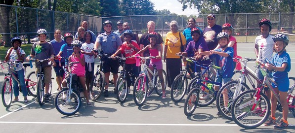 A total of 21 bikes were donated and given away to kids who wrote essays regarding what they need to be more successful in the upcoming school year.