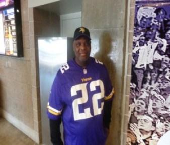 Sylvester Blue, a Vikings fan from Dallas