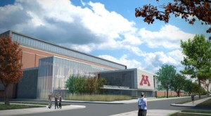 Artist's concept of proposed new U of M athletic facility Illustration courtesy of U of M