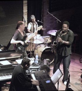 l-r: Jeff Lorber, Shaun Labelle, Everette Harp, Stokley Williams Photo by Keith Tolar