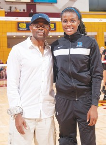 Christopher Obeime with daughter Jeme Photo by Greg Smith-GSmithSports