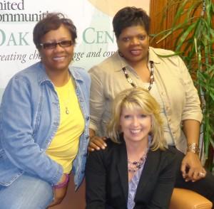 (l-r) Brenda Reid, Shirlee Jordan (middle) and Debra Chavis Photo by Charles Hallman