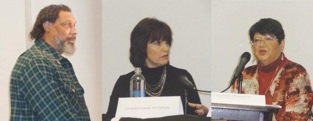 (l-r) Joey Browner, U.S. Congresswoman  Betty McCollum,Norma Renville Photos by Charles Hallman