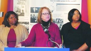 (l-r) Danita Brown Young, Pamela Wheelock and Katrice Albert