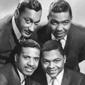 The Four Tops during earlier times – top: Abdul (Duke) Fakir (left), Lawrence Payton. Bottom: Levi Stubbs (left) and Renaldo (Obie) Benson.
