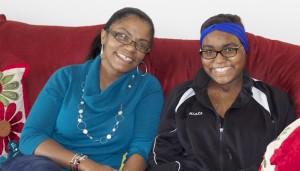 Munah Wotorson-Smith (Miata's mother), left,  with Miata Smith Photo by Brandon Jones