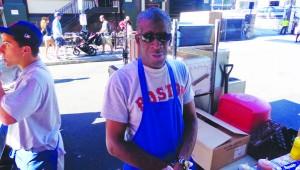 Reginald Reese, hot dog vendor