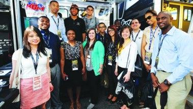 This year's NASCAR summer interns.