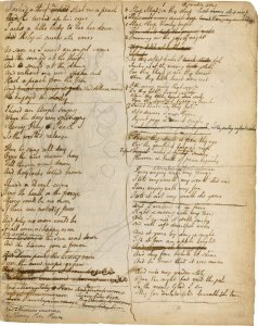 """Blake manuscript - Notebook - page 114 rev"" by William Blake - http://www.bl.uk/manuscripts/Viewer.aspx?ref=add_ms_49460_fs001r See also: http://www.bl.uk/onlinegallery/ttp/blake/accessible/folion14andn15.html. Licensed under Public Domain via Commons - https://commons.wikimedia.org/wiki/File:Blake_manuscript_-_Notebook_-_page_114_rev.jpg#/media/File:Blake_manuscript_-_Notebook_-_page_114_rev.jpg"