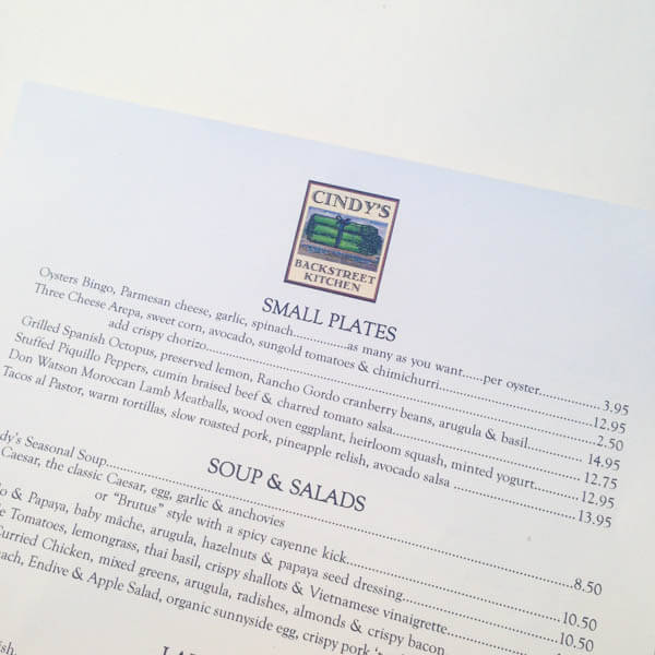 Napa Valley Where to Eat - Spoonful of Flavor - letter of recommendations