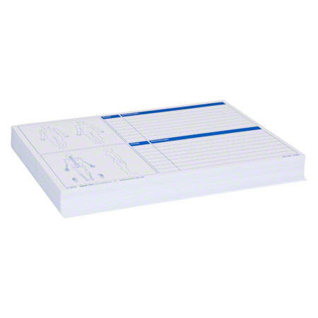 Insert cards with diagnostical documentation for index cards, 100