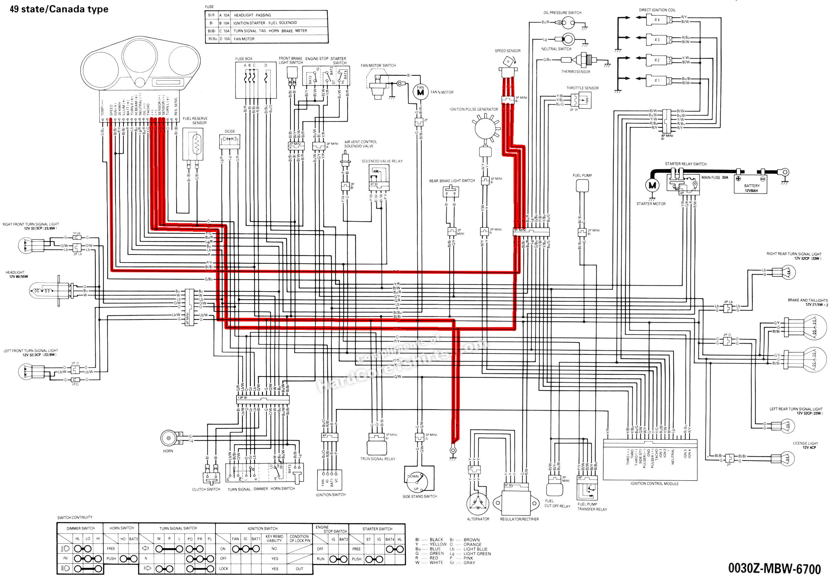06 vt1100 wiring diagram