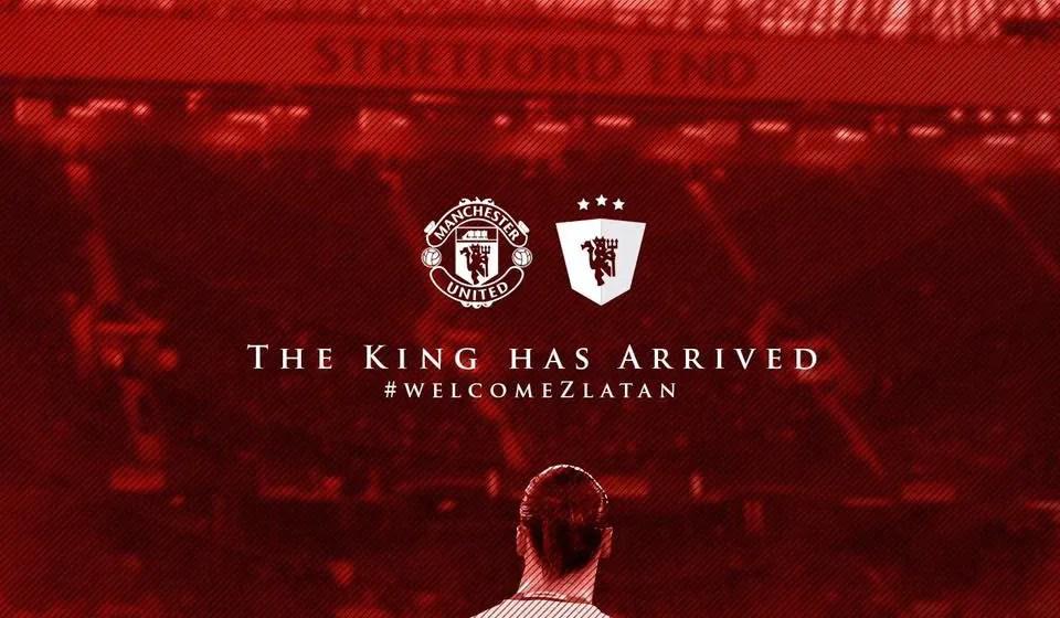 L'annuncio del Manchester United relativo all'arrivo di Zlatan Ibrahimovic