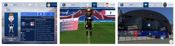 Immagine di un frame di FansParc app studiati per i tifosi del PSG