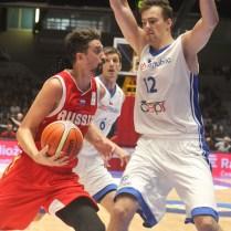 Ondrej Balvin Česká republika Rusko kvalifikace na MS v Čině basketbal foto CPA