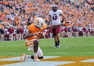 Tennessee Volunteers wide receiver Justin Hunter has switched from Atlas Sports to Creative Artists Agency.  Credit: Jim Brown-US PRESSWIRE.