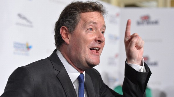 """BEVERLY HILLS, CA - MAY 04:  TV host Piers Morgan arrives to BritWeek 2012's """"Evening with Piers Morgan"""" on May 4, 2012 in Beverly Hills, California.  (Photo by Alberto E. Rodriguez/Getty Images)"""