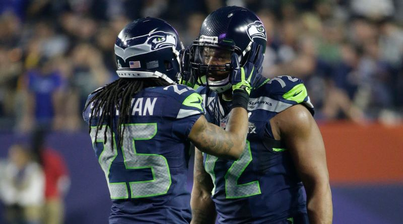 Richard Sherman and Michael Bennett courtesy of deadspin.com