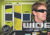 2011 Press Pass Racing 4 Wide Memorabilia Card