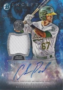 2016 Bowman Inception Chad Pinder Auto-Jersey RC