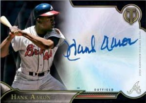 2016 Topps Tribute Baseball Hank Aaron Autograph